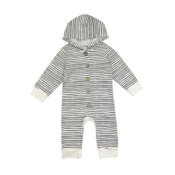 856165f4e New Toddler Newborn Baby Boy Girl Warm Infant Romper Striped ...