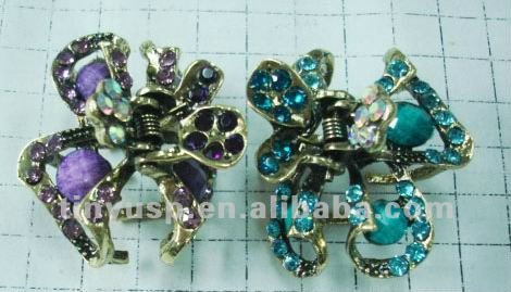 RHINESTONE high quality metal hair claw