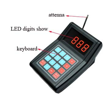 Ce Rohs Wireless Personal Table Number Calling Buzzer Restaurant - Restaurant table numbering system