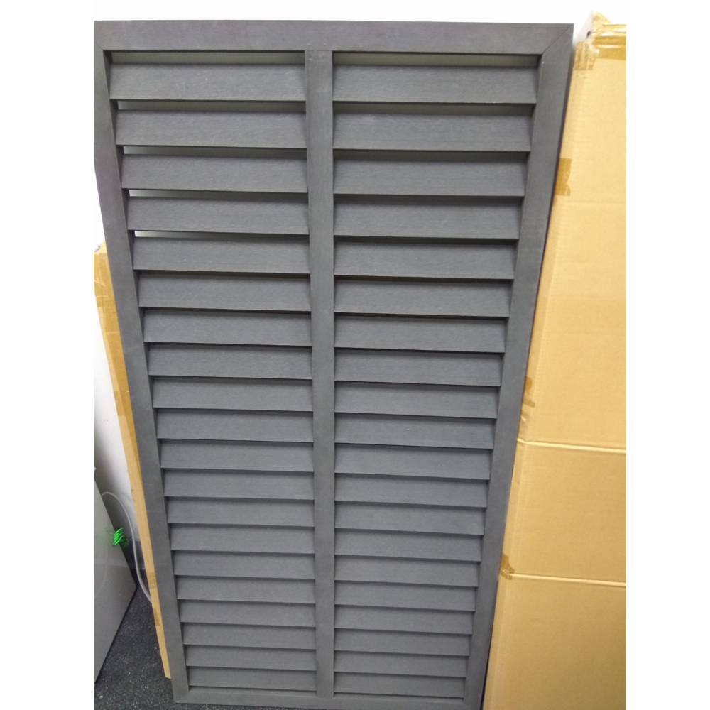 Outdoor PVC WPC Wood Plastic Sun Louver Panels