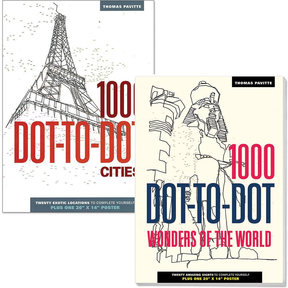Get Quotations · (Set) Wonders Of The World 1000 And Cities Dot To Dot  Activity Puzzle Books