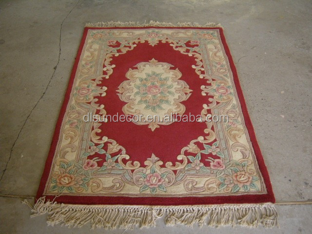 100% wool hand tufted 90l chinese hand made carpet