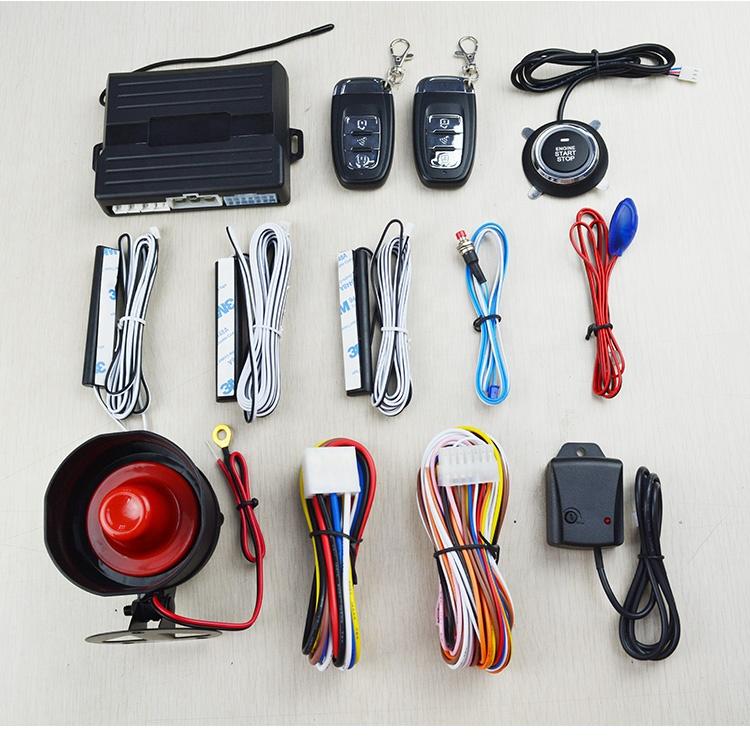 Lanlan Smart Key PKE Car Alarm Smart Key PKE Passive Keyless Entry Car Alarm System Engine Start Stop Push Button Remote Starter Shock Sensor Alarm