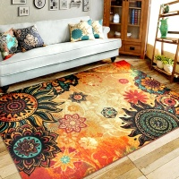 Modern Printed Area Rug Gel Foam Backing Anti Slip Jackson Carpet And Rugs For Living Room Dining Room