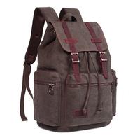 Soft lightweight canvas backpack bag,adventure hiker junior school day pack back sack bookbag rucksack daypack with RFID pocket