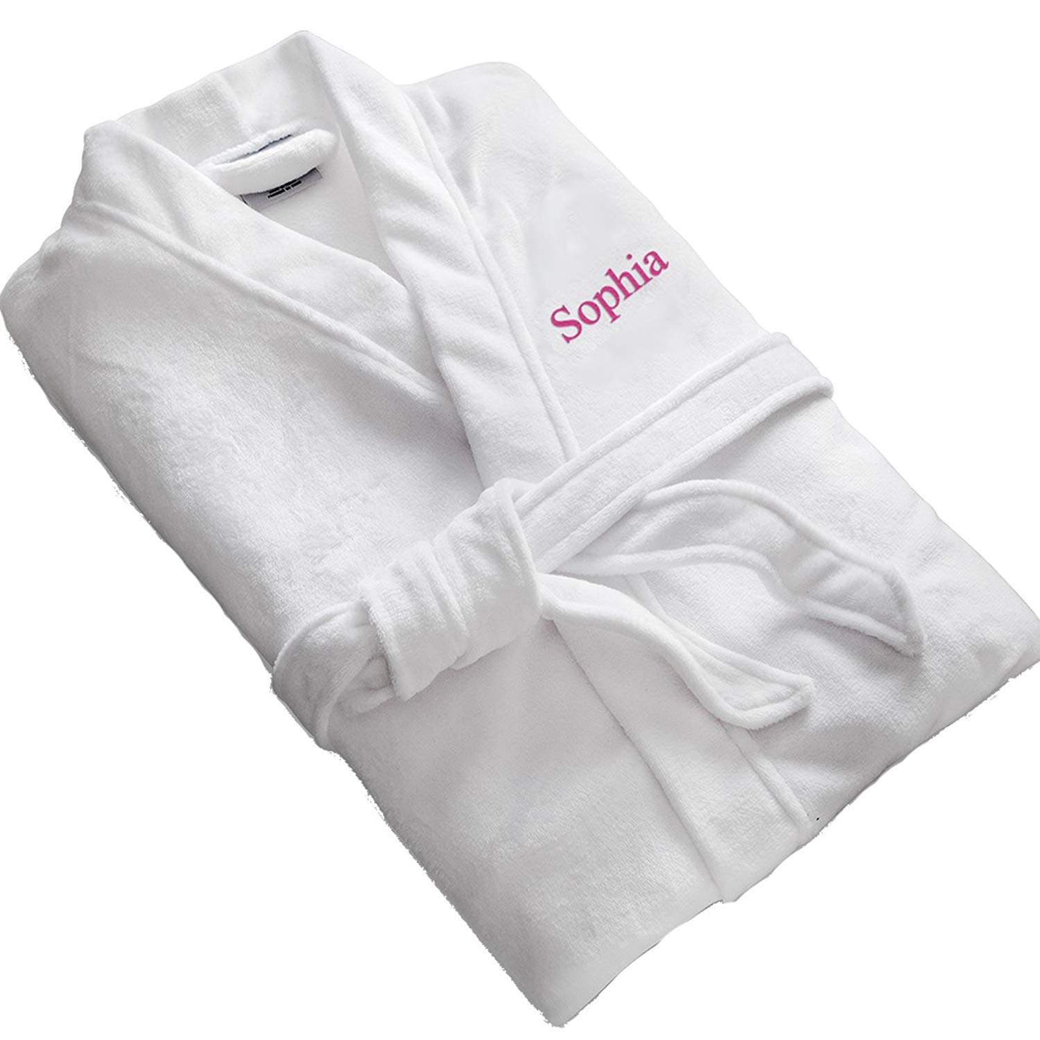 72a7d4b63d Get Quotations · A Gift Personalized White Personalized Microfiber Robe - Personalized  Robe - Embroidered Robe