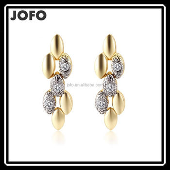 Fancy Design Beautiful Turkish Gold Drop Earring For Tragus Piercing Jewelry Mgj0293