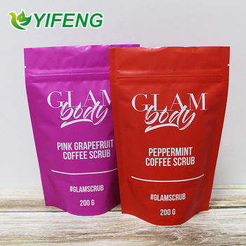 Vacuum Sealed Printed 2 Oz Digital Printing Brewer Resealable Stand Up Bean Packaging Bags