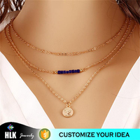 3d printer for jewelry bali tribal multilayer beads gold sequins collarbone chain