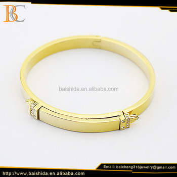 Fashion 18k gold plated stainless steel cuff bracelet for ladies