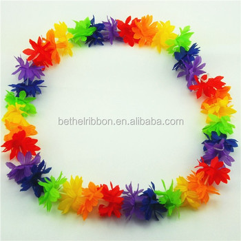 dress multicolor necklace fancy leis product costume party flower luau hawaiian tropical decoration garland lei pcs theme beach