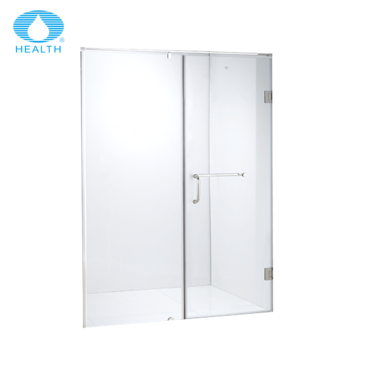 Frameless hinge shower tempered glass door