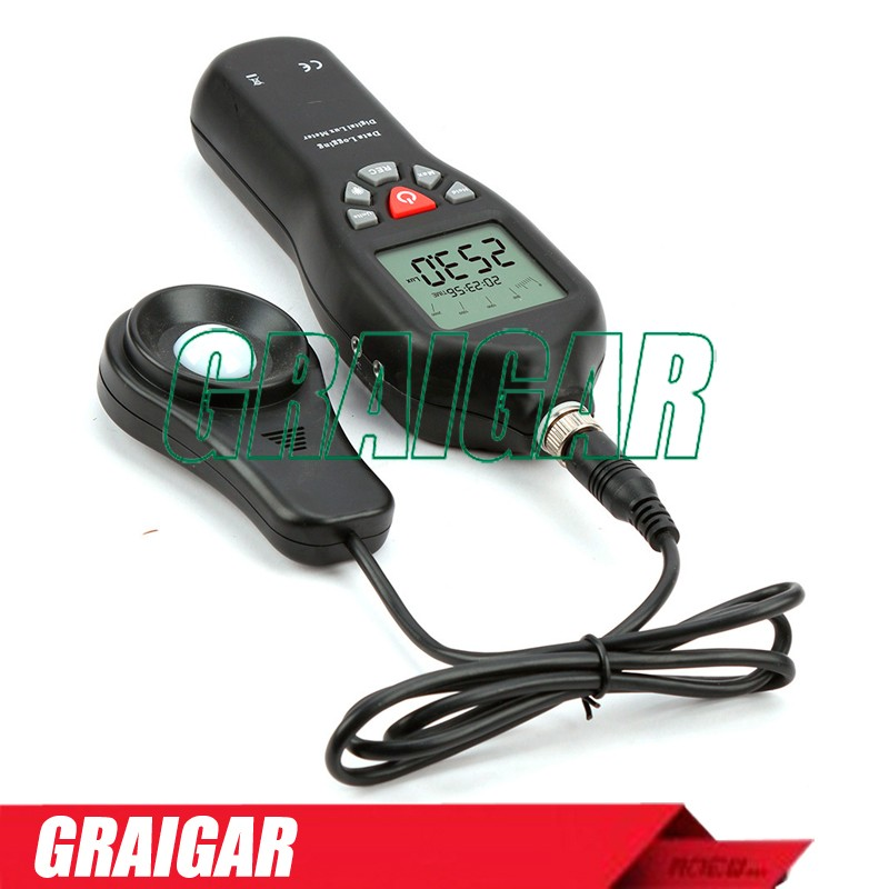 TL-600 Digital Lux meter Data Logging with USB fashion shape 0.1-200000lux UV Light Meter / Screen Brightness Meter