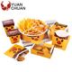 Customized paperboard food packaging box for fast food