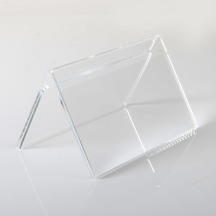 Acrylic Clear Menu Show card Name Place Table Setting Display Tent Stand Holder