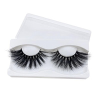 2019 Hot Sale Private Label 25mm Mink Eyelashes Natural Thick 5D flash eyelashes