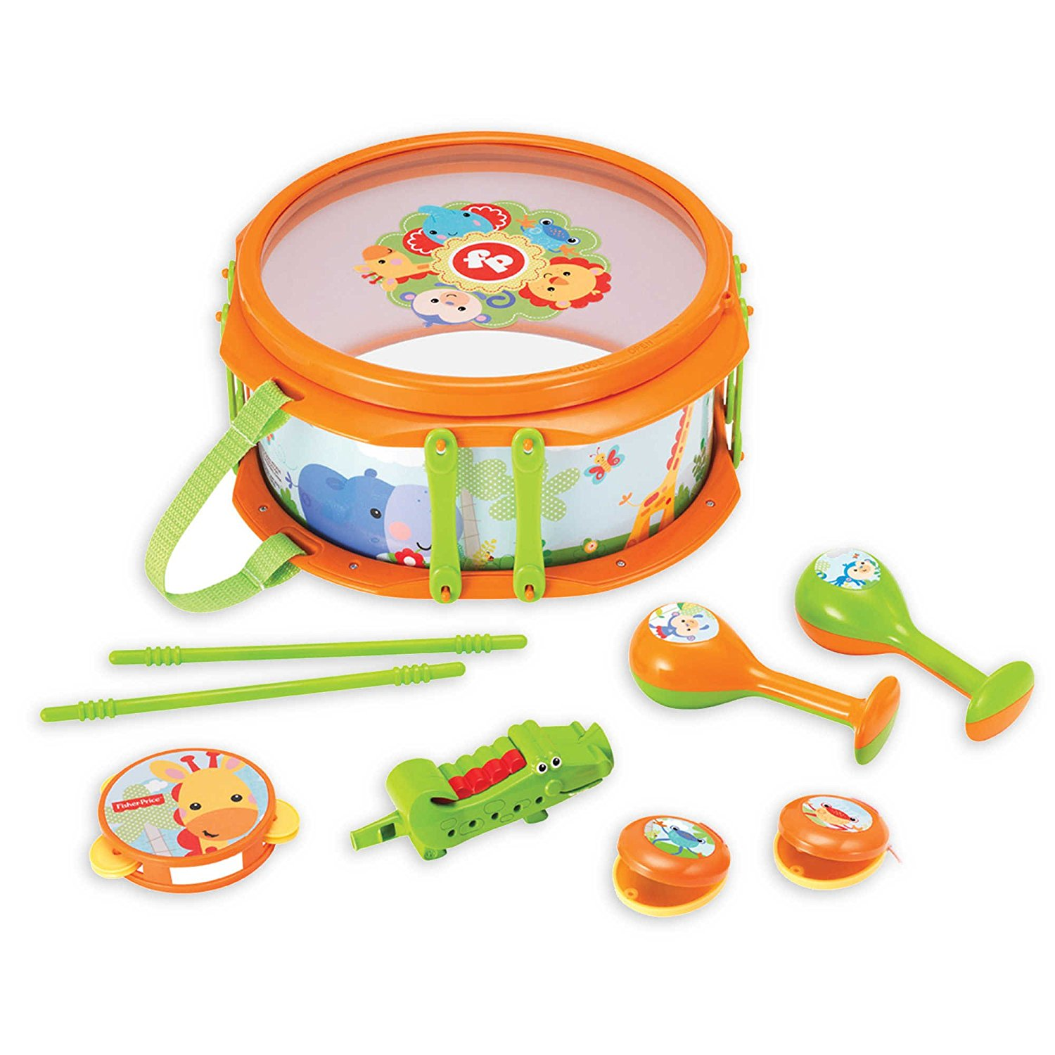 Get Quotations Fisher Price Rain Forest Drum Set