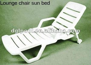Low plastic beach chair/pool sun chairs