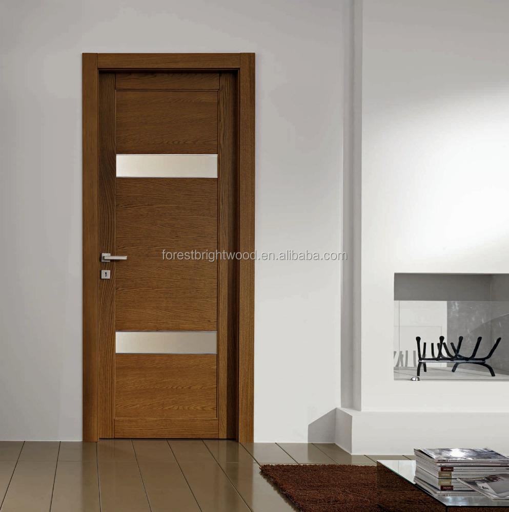 Wenge Veneer Laminated Wooden Flush Door Design With Glass   Buy Flush Door  Design With Glass Product On Alibaba.com