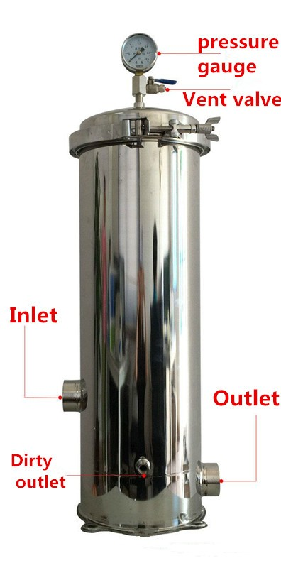 Water Filter Treatment Plant Pall 5 Micron Stainless Steel