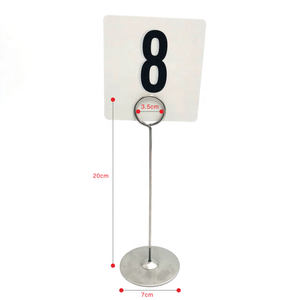 CUSTOM stainless steel metal wooden restaurant wedding table number menu holder