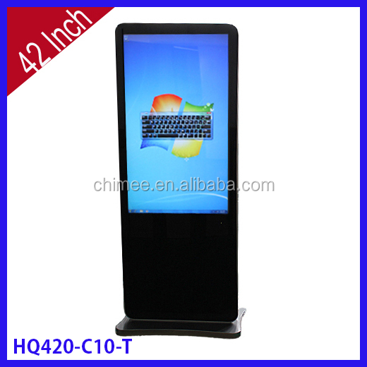 42 Inch Floor Standing Touch Screen Windows digital signage network