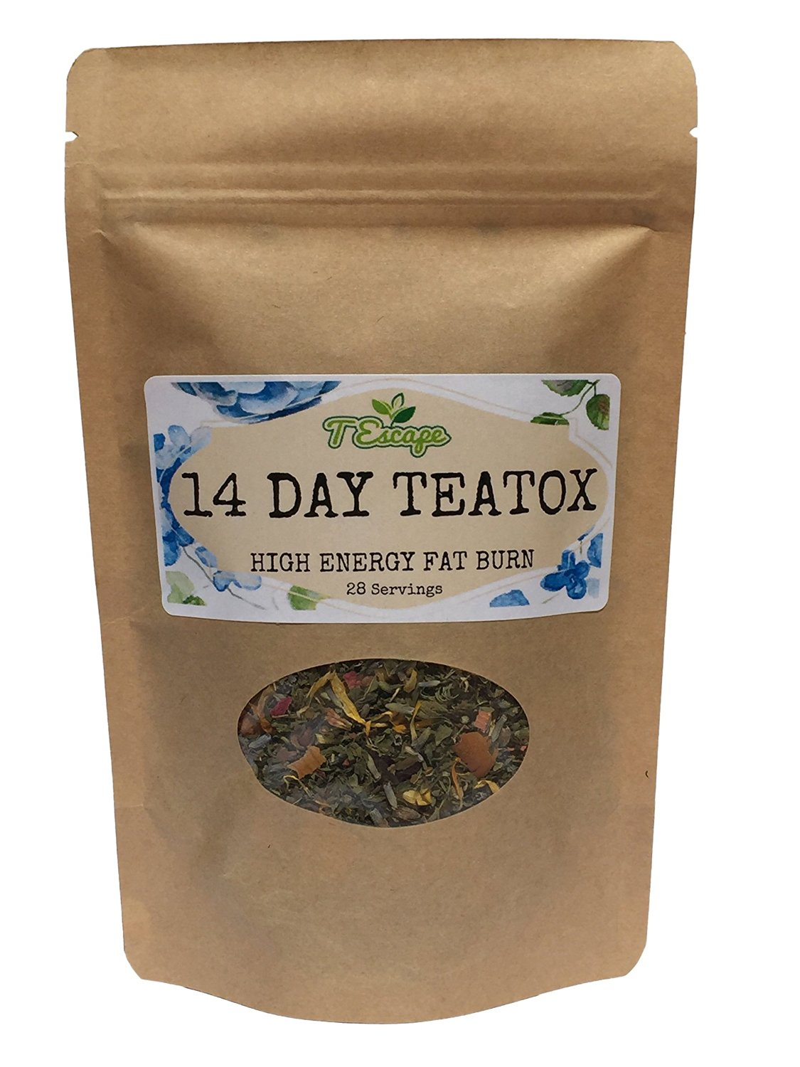 Flat Tummy 14 DAY DETOX TEA - SkinnyMint - Natural Skinny TEATOX - NO LAXATIVES - Reduce Cravings & Bloating with Guarana, Acai & Ginseng. 100%