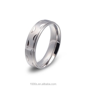 Medical Blank Stainless Steel Rings for Men, Crescent Stainless Steel Eternity Ring Bands Wholesale