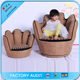 Suede Fabric Finger Sofa Chair For Kids