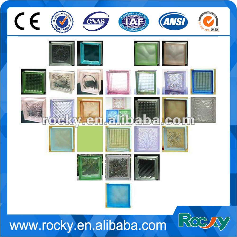 80mm deep acid clear glass block for office building cheap for Hollow glass blocks for crafts