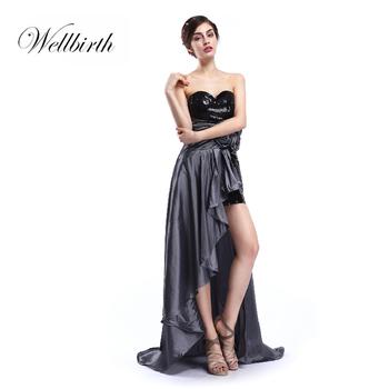 210d94b40 Correa de gasa de encaje negro boutique cola larga cóctel vestido de noche  las mujeres glisten