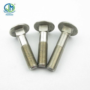 DIN 603 M4 Square Hole Oval Neck Stainless Steel Carriage Bolt Bolt Washer And Nut