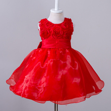 Children Frock Model 2 Years Small Girl Baby Clothes Fashion Rose Flower Dress