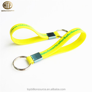 2018 loop silicone wristband key tag holder key chains