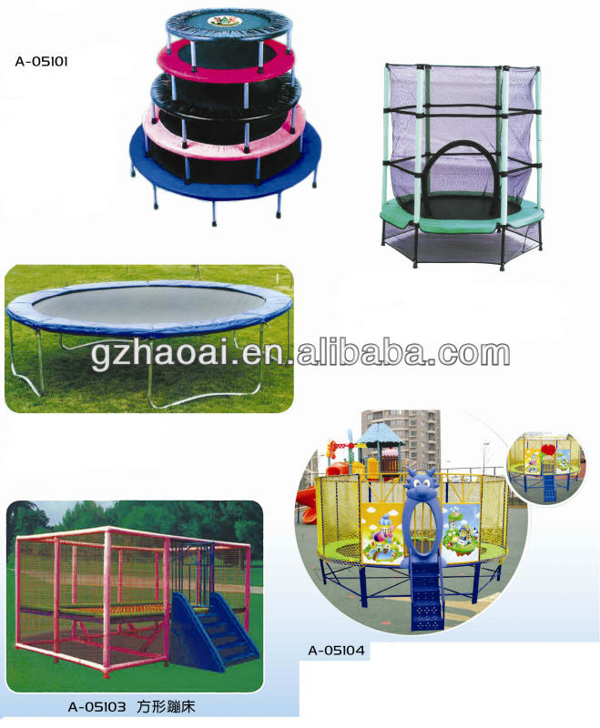 A-05102 2013 China Newest Factory Price Direct Sale Kids Jumping Bed Kids Indoor Trampoline Bed Cheap Trampoline For Sale