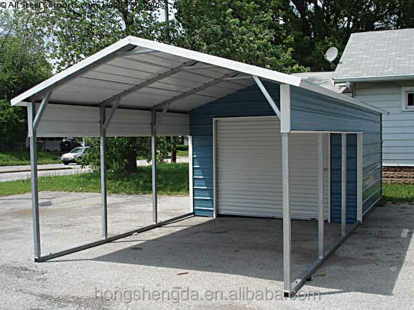 low cost metal sheds / garage with storage shed for sale