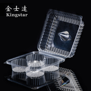Factory Supply PET Disposable Plastic 4 Compartment Food Containers