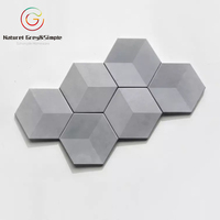 Natural Grey 3D Wall Decorative Beton Concrete Cement Wall Tiles