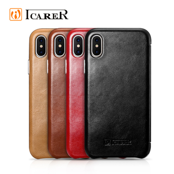 OEM Phone Cover Shell Genuine Leather Mobile Flip Case For iPhone X for Apple