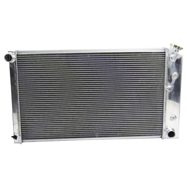 GM SMALL BLOCK SBC CAR l6//V8 FANS for 1966-1980 CHEVY 3 ROW ALUMINUM radiator