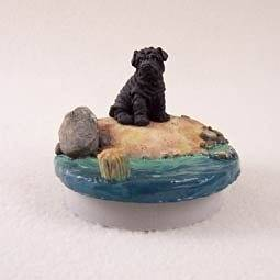 """Conversation Concepts Miniature Shar Pei Black Candle Topper Tiny One """"A Day on the Beach"""" by Conversation Concepts"""