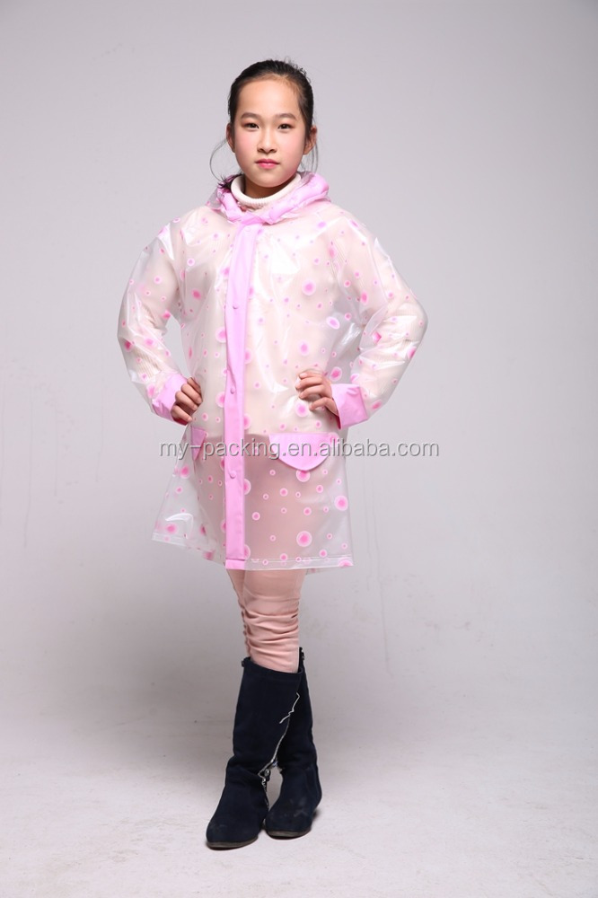 2017 New Dongguan Factory Promotion kids raincoats and ponchos