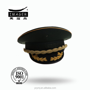 Customized Air Force Warrant Officer Cap with Gold Embroidery for Military Supply