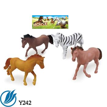 8pcs plastic mini horse farm animal toy set ,PVC farm animal