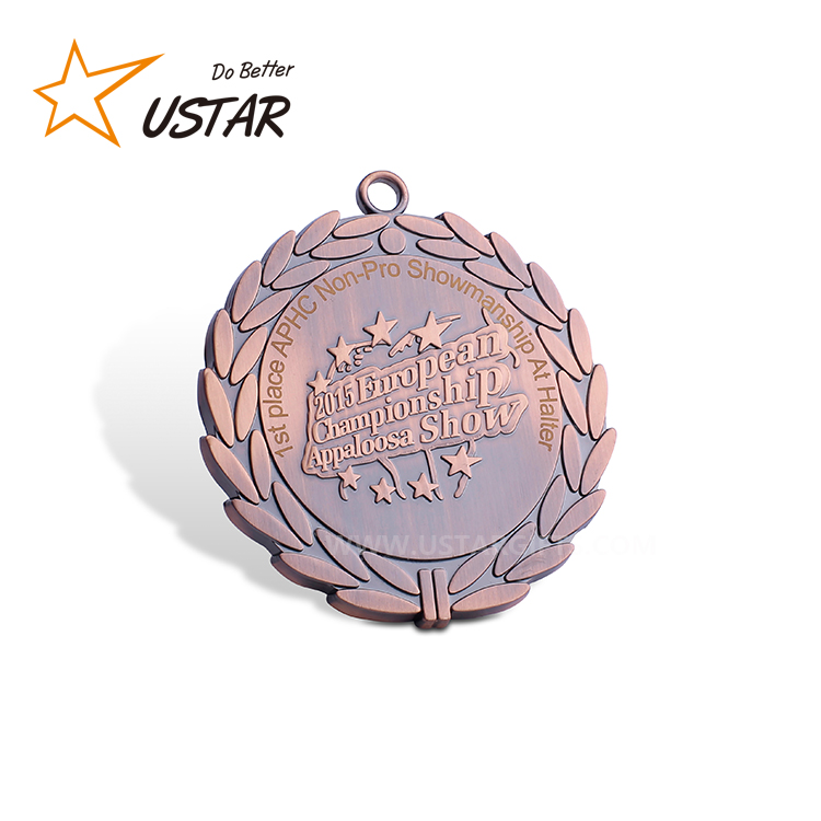 Customized Metal Embossed 2D/3D Raised Sport Medals With Ribbon