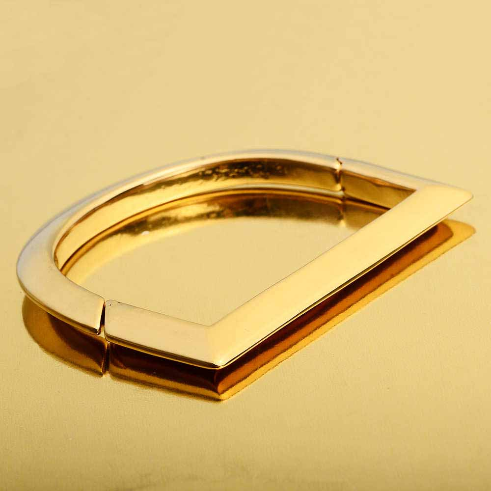Stainless Steel Mens Jewelry Cuff Bracelets 18K Gold Bangle