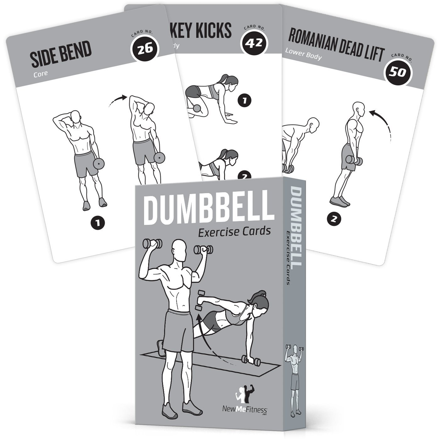 Get Quotations EXERCISE CARDS DUMBBELL Home Gym Workouts Strength Training Building Muscle Total Body Fitness Guide Workout Routines