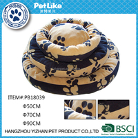 2016 pet products wholesaler China paw printed pet bed