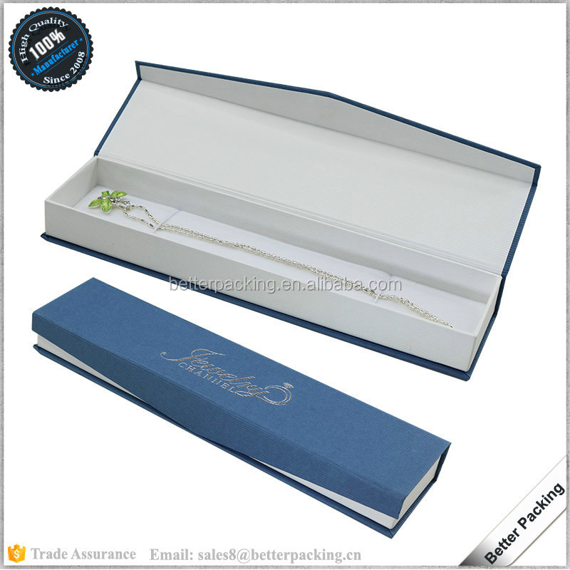 Silver LOGO Customized Blue Paper Jewel Bracelet Box