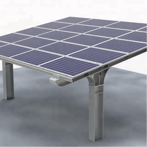 200kw Q235B steel solar module car parking mounting system